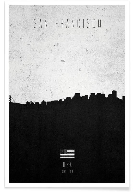 San Francisco Contemporary Cityscape affiche
