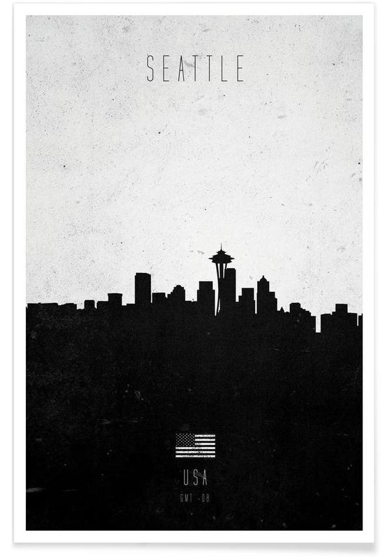 Seattle Contemporary Cityscape -Poster