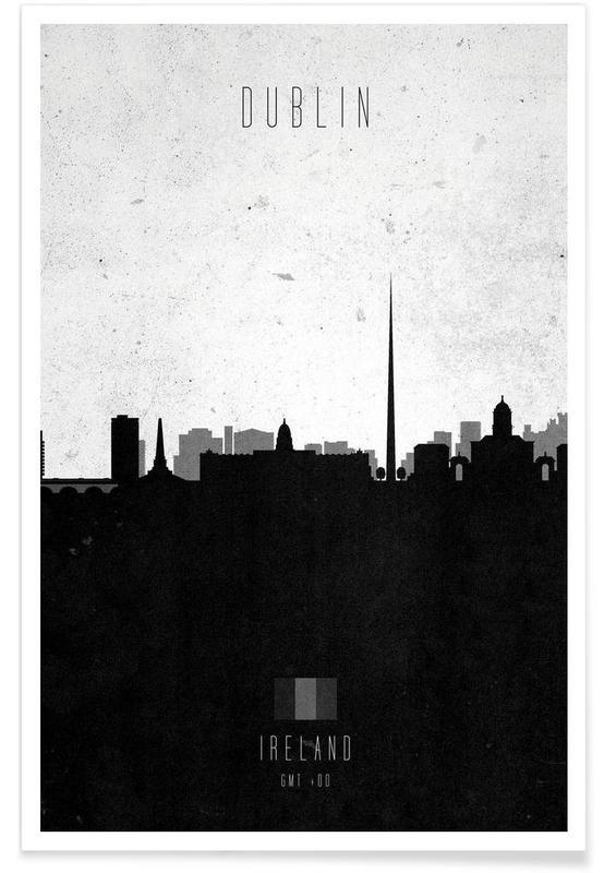 Dublin Contemporary Cityscape poster