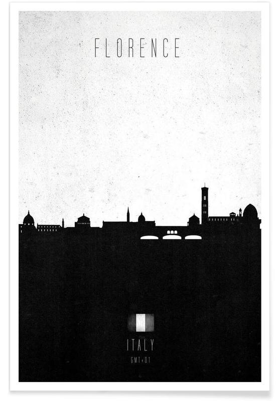 Florence Contemporary Cityscape Poster