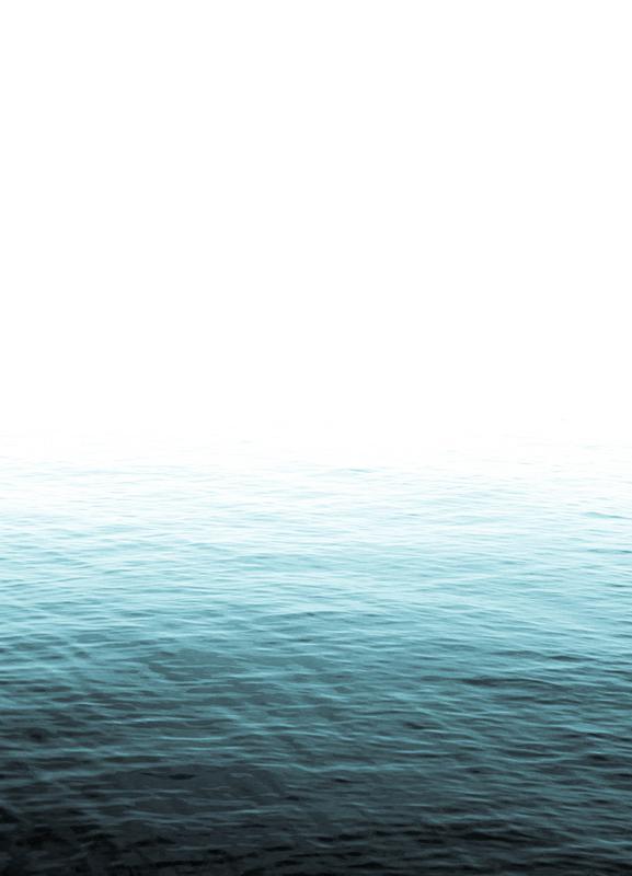 Vast Blue Ocean Leinwandbild