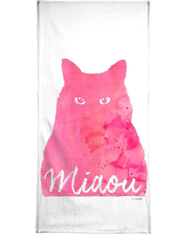 Miaou - Pink -Handtuch