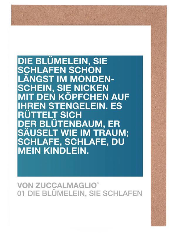 Die Blümelein Sie Schlafen 02 Greeting Card Set