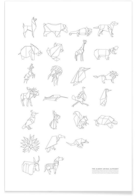 Almost Animal Alphabet -Poster