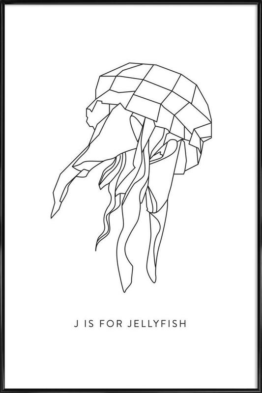 J Framed Poster