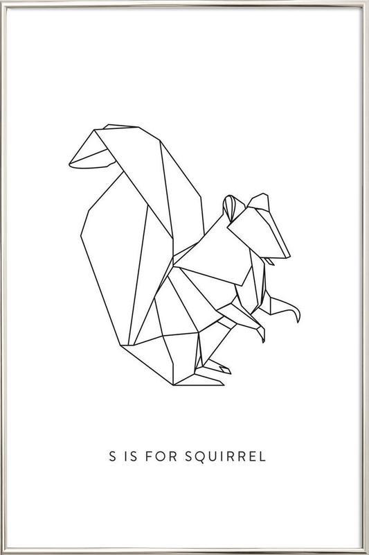 S -Poster im Alurahmen