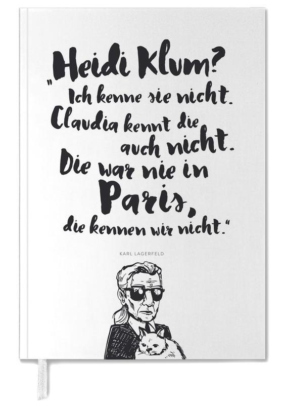 Heidi war noch nie in Paris Terminplaner 2018 | Dekoration > Accessoires | Mehrfarbig | Papier