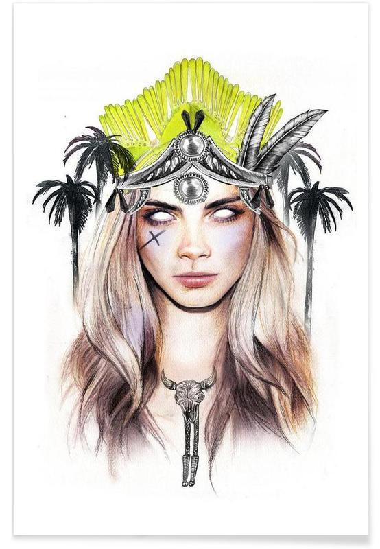 Queen Cara Premium Poster | Dekoration > Bilder und Rahmen > Poster | Mehrfarbig