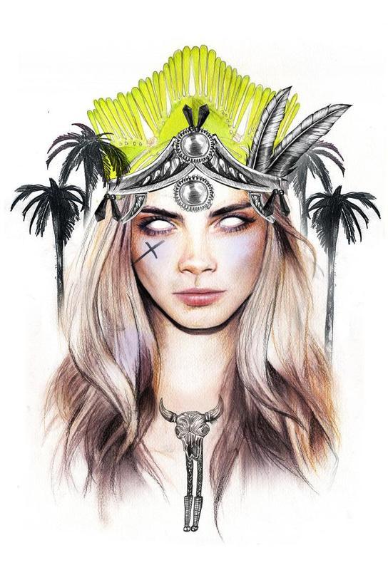 Queen Cara Acrylglasbild | Dekoration > Bilder und Rahmen > Bilder | Mehrfarbig | Aluminium
