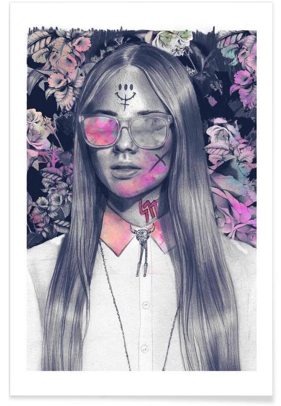 Get em´ Girl Premium Poster | Dekoration > Bilder und Rahmen > Poster | Mehrfarbig