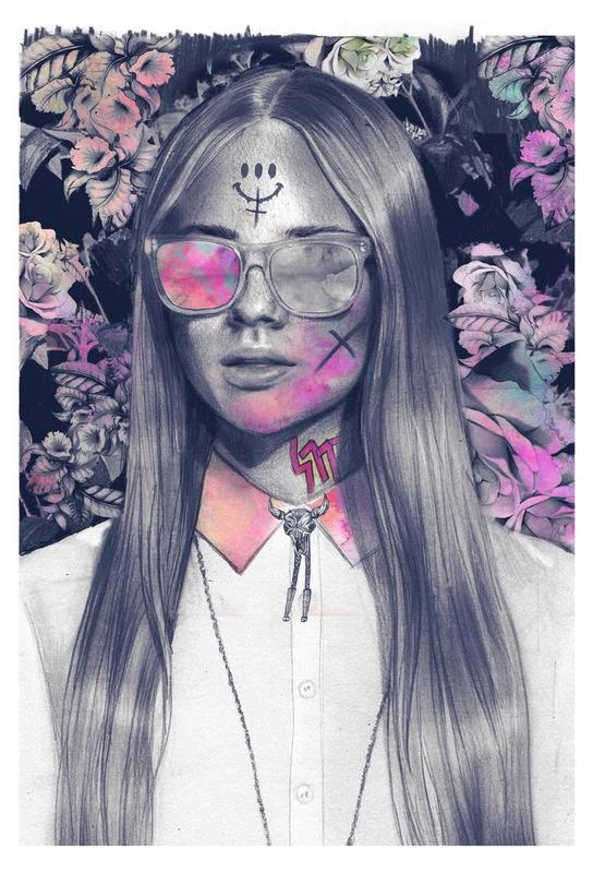 Get em´ Girl Acrylglasbild | Dekoration > Bilder und Rahmen > Bilder | Mehrfarbig | Aluminium