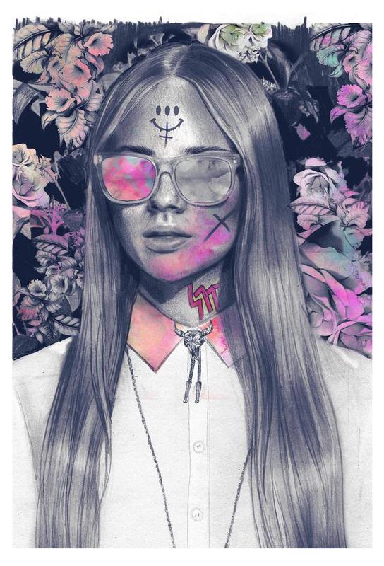 Get em´ Girl Alu Dibond Druck | Dekoration > Bilder und Rahmen > Poster | Mehrfarbig | Aluminium