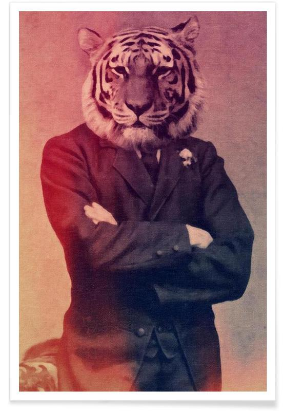 Old Timey Tiger -Poster