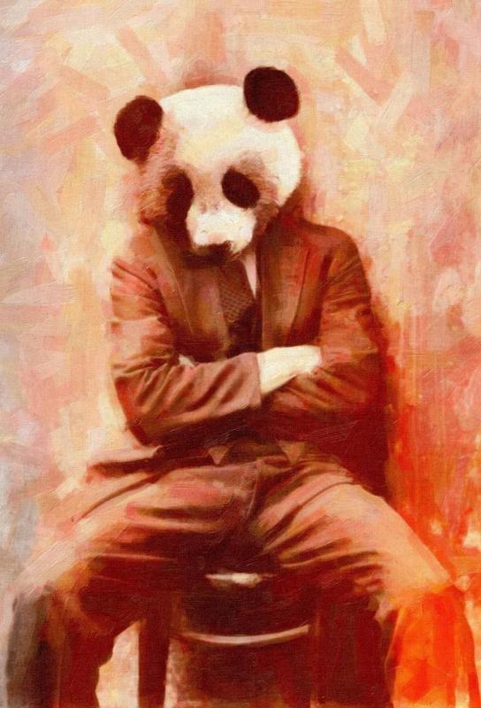 Sad Panda Acrylglasbild | Dekoration > Bilder und Rahmen > Bilder