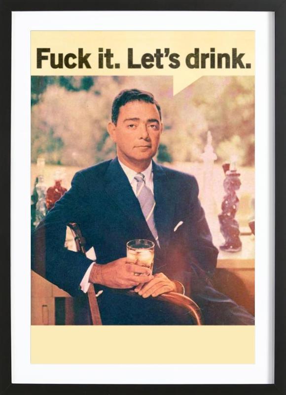 Let's Drink Framed Print