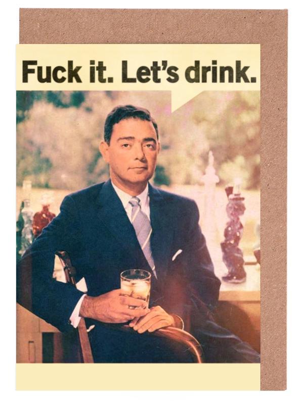 Let's Drink -Grußkarten-Set