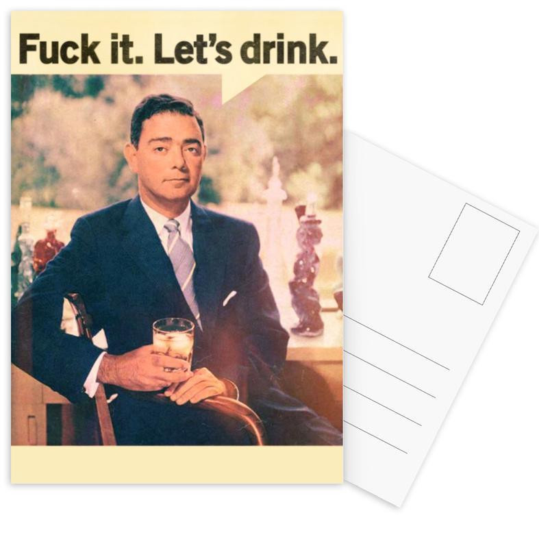 Let's Drink Postkartenset | Dekoration > Accessoires