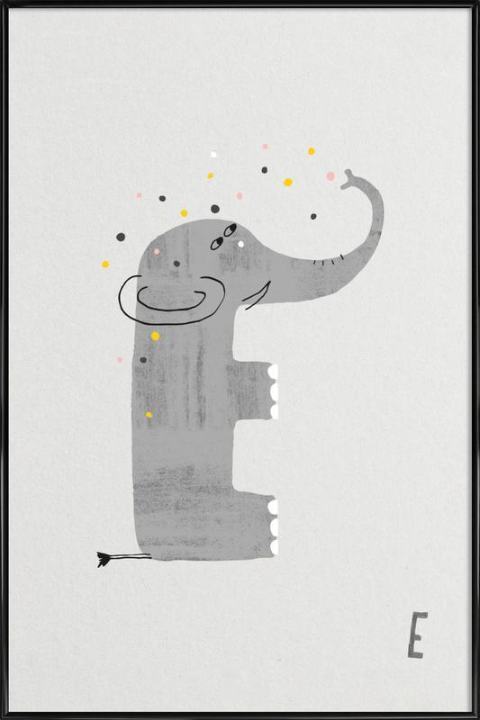 ABC Kids - E Framed Poster