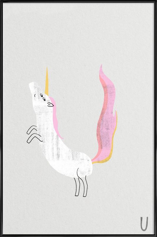 ABC Kids - Unicorn Framed Poster