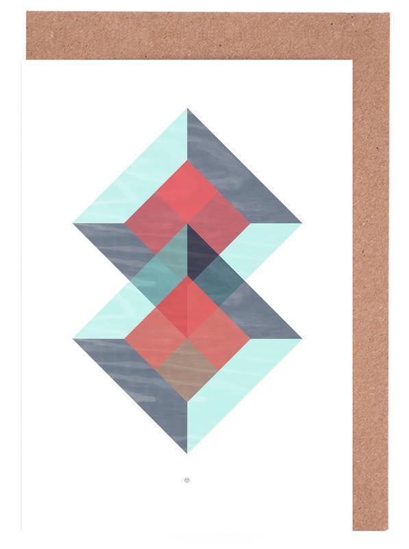 Translucent Geometry Green -Grußkarten-Set
