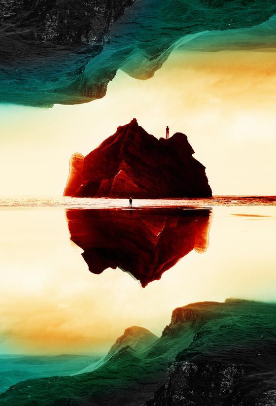 Isolation Island Alu Dibond Druck | Dekoration > Bilder und Rahmen > Poster