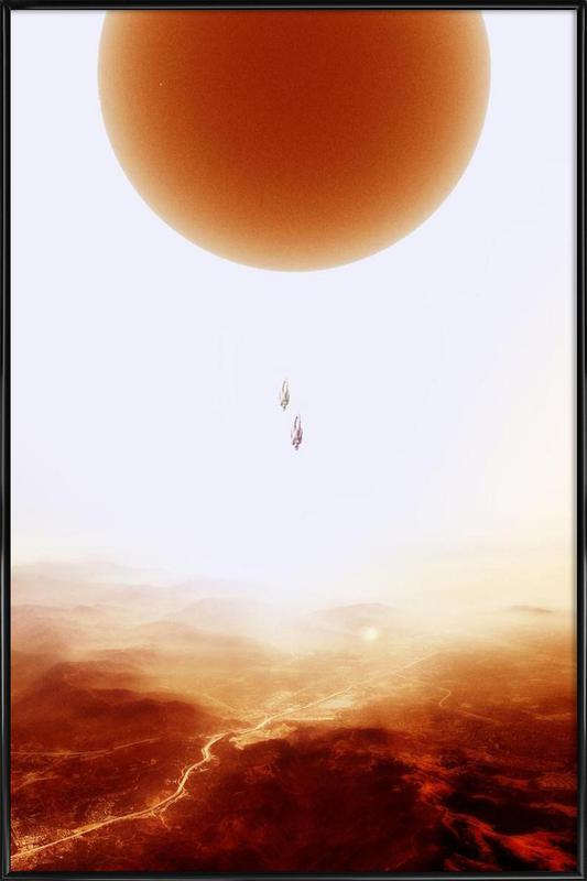 Mars Diving -Bild mit Kunststoffrahmen