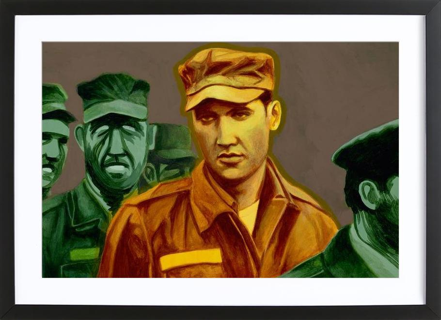 Elvis in the Army Framed Print