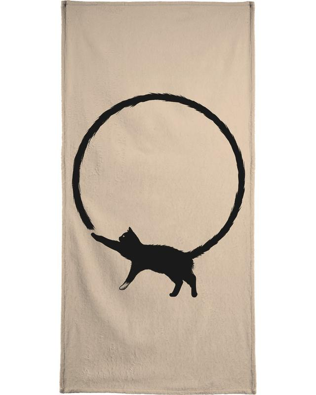 Cat Circle Bath Towel