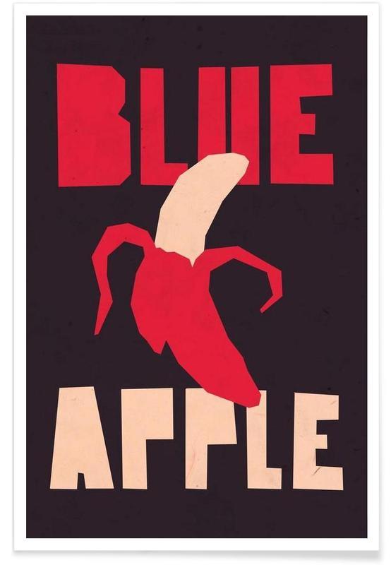 Blue orange affiche