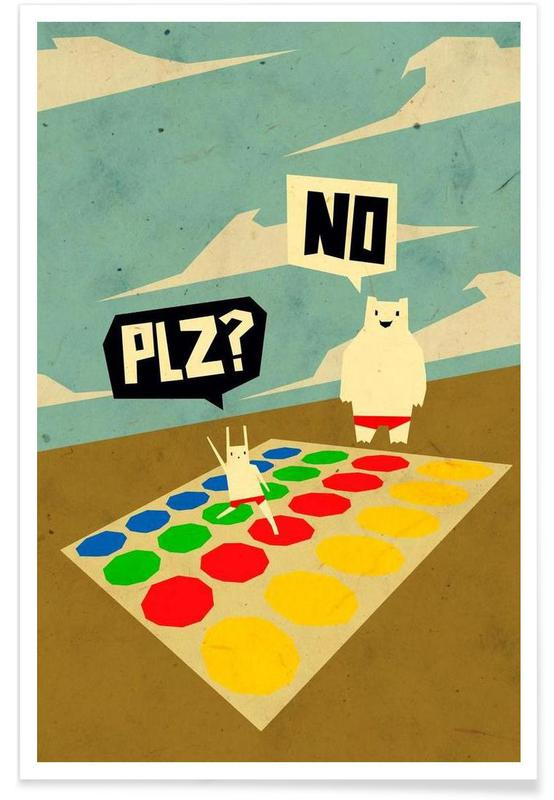 Yeti doesn't play Twister Poster