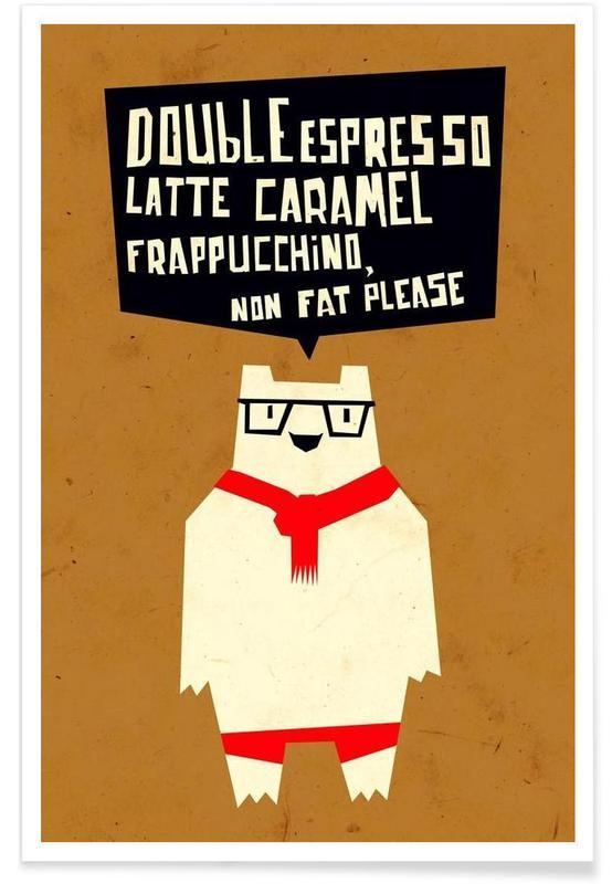 Yeti wants coffee Poster