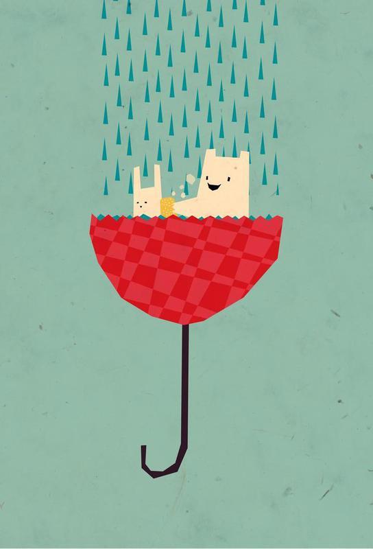 Umbrella bath time! -Acrylglasbild