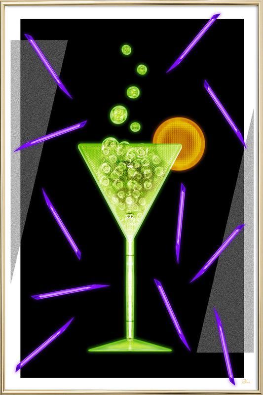 Acid Drink Poster im Alurahmen