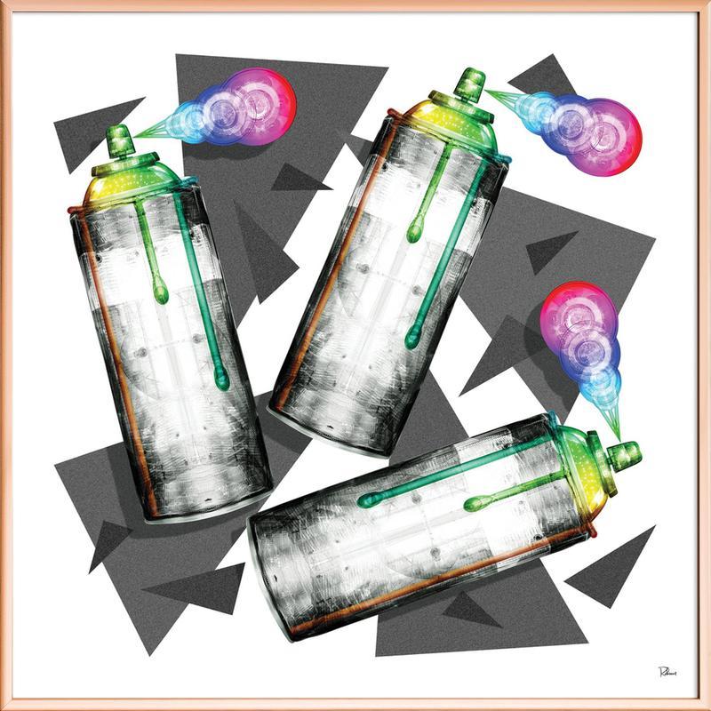Do Like Bank Poster im Alurahmen | Dekoration > Bilder und Rahmen > Poster | Mehrfarbig