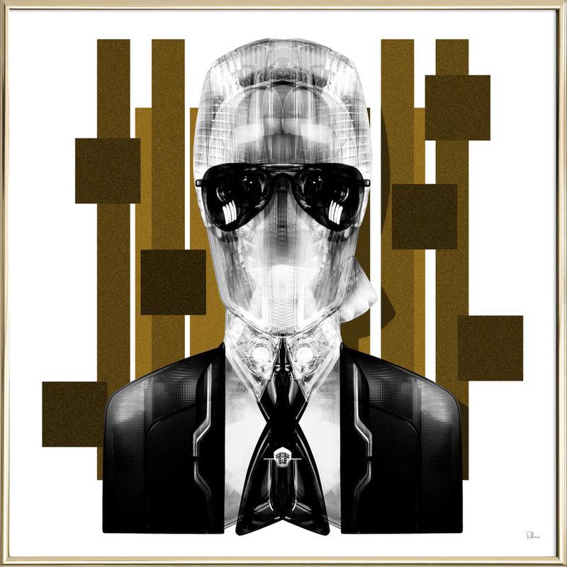 Karl Poster im Alurahmen | Dekoration > Bilder und Rahmen > Poster | Mehrfarbig