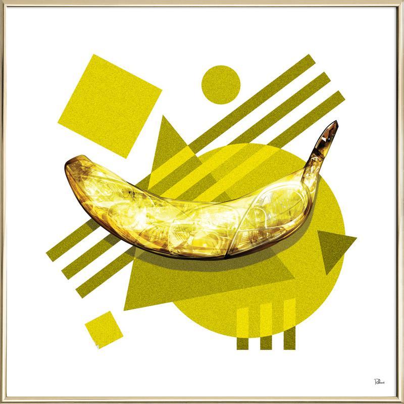 Lamda Banana Poster im Alurahmen   Dekoration > Bilder und Rahmen > Poster   Mehrfarbig