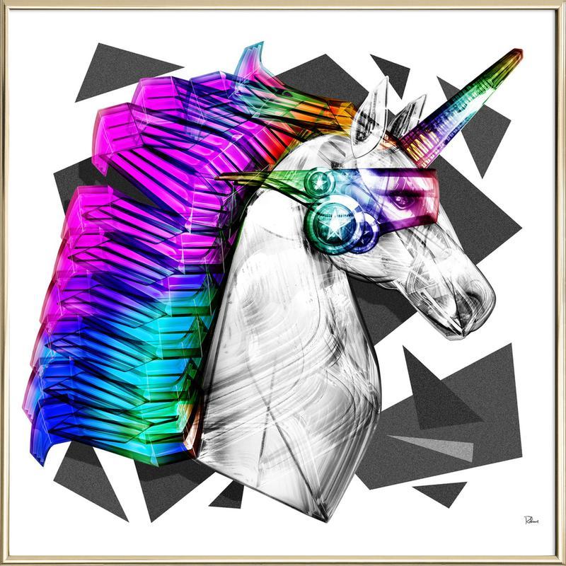 Poney Superstar Poster im Alurahmen | Dekoration > Bilder und Rahmen > Poster | Mehrfarbig