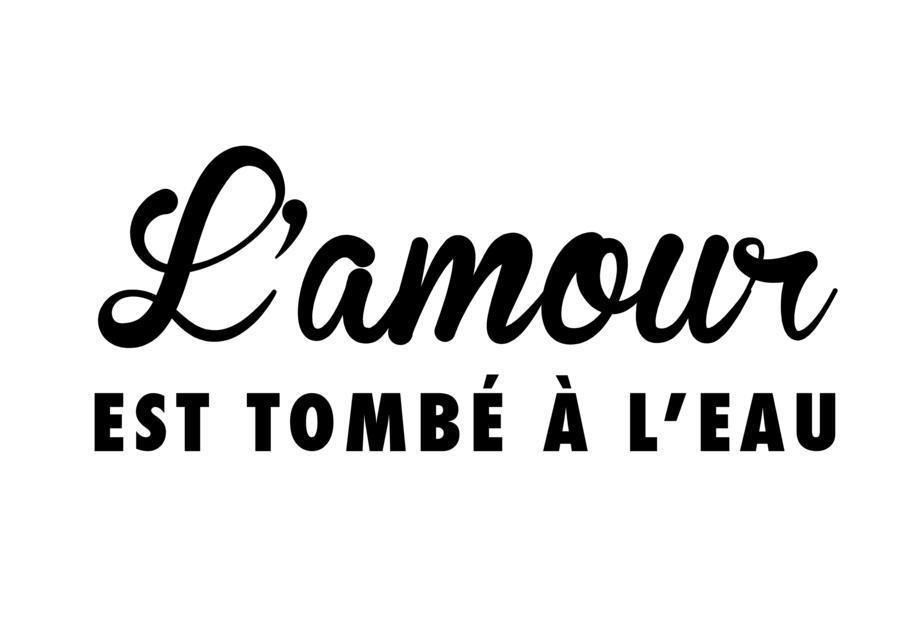 L'amour tombé I black on white acrylglas print