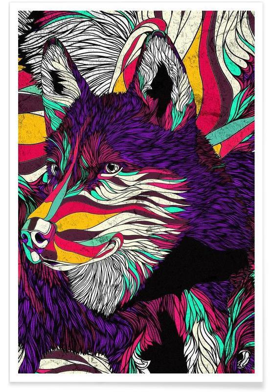 Color Husky affiche