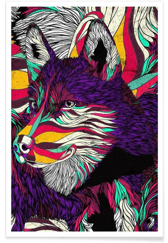 Color Husky Poster
