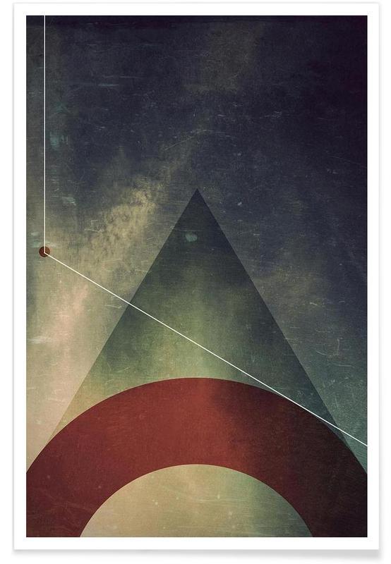 Triangle circle half -Poster