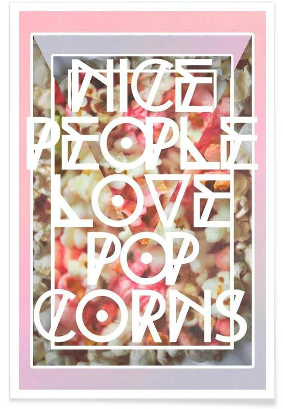 Nice people love popcorn affiche