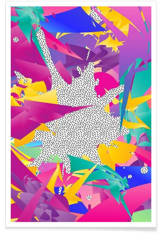 80's Abstract affiche