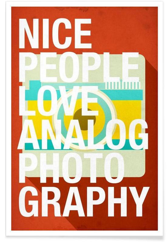 Nice people love analog photos affiche