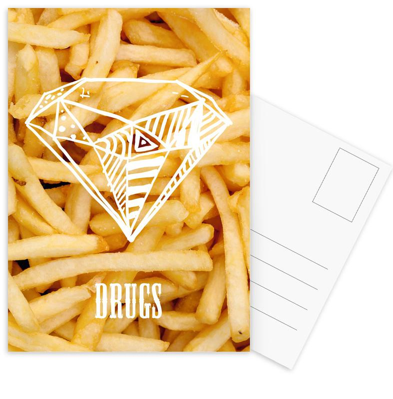 Diamonds and French Fries Postkartenset