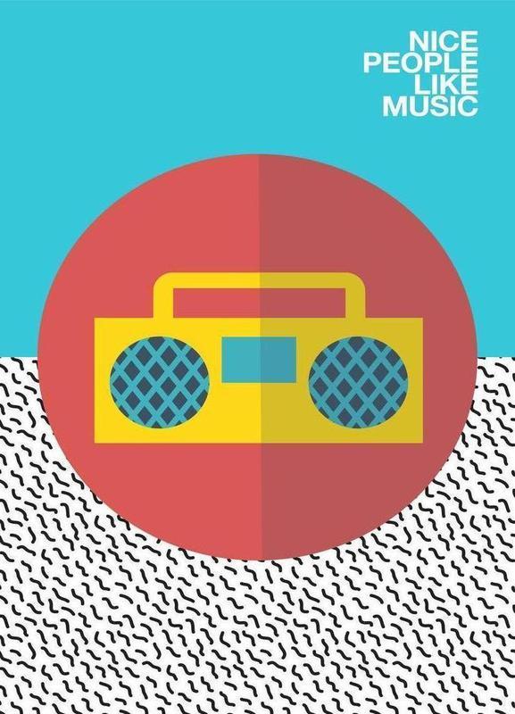 Nice people Like Music Leinwandbild