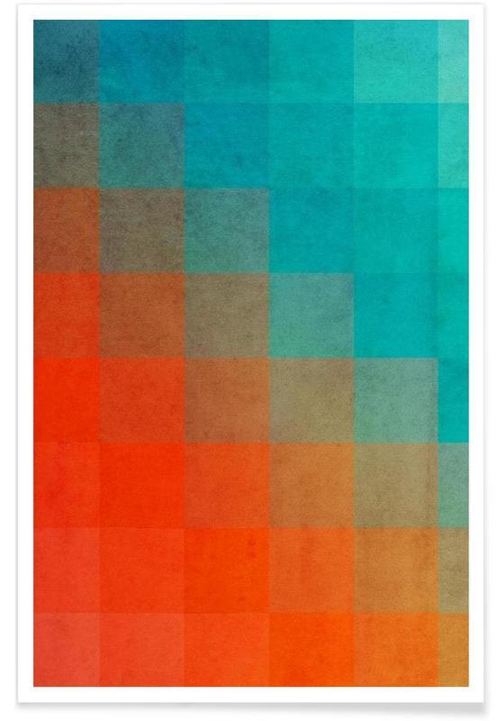 Beach Pixel Surface poster