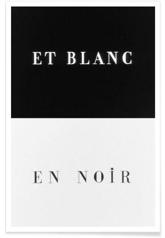Et blanc en noir affiche