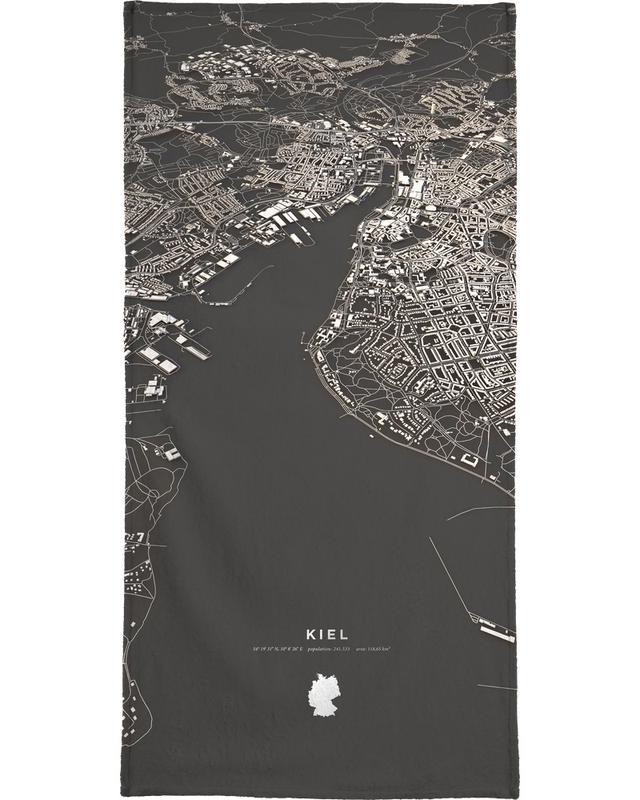 Kiel City Map Handtuch