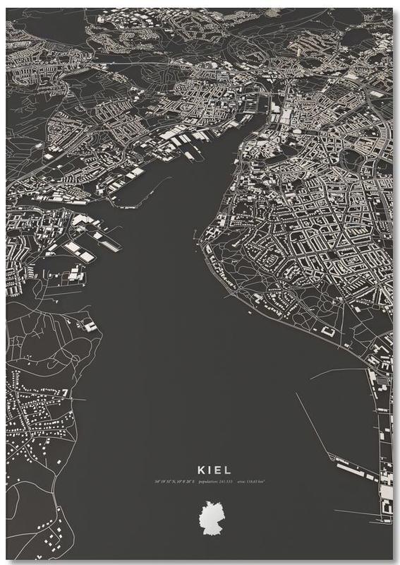 Kiel City Map Notizblock